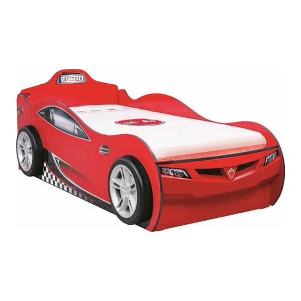 Coupe Carbed With Friend Bed Red autó formájú piros gyerekágy tárolóhellyel, 90 x 190 cm