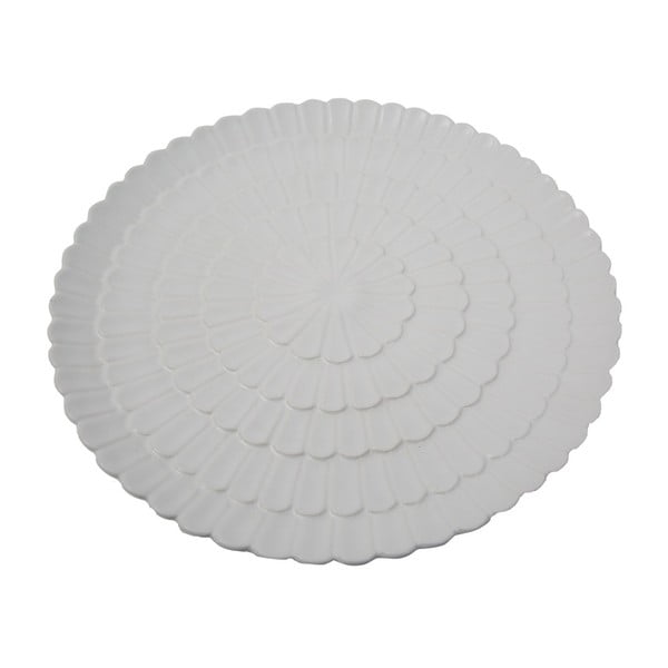 Biely porcelánový tanier Mauro Ferretti Flower