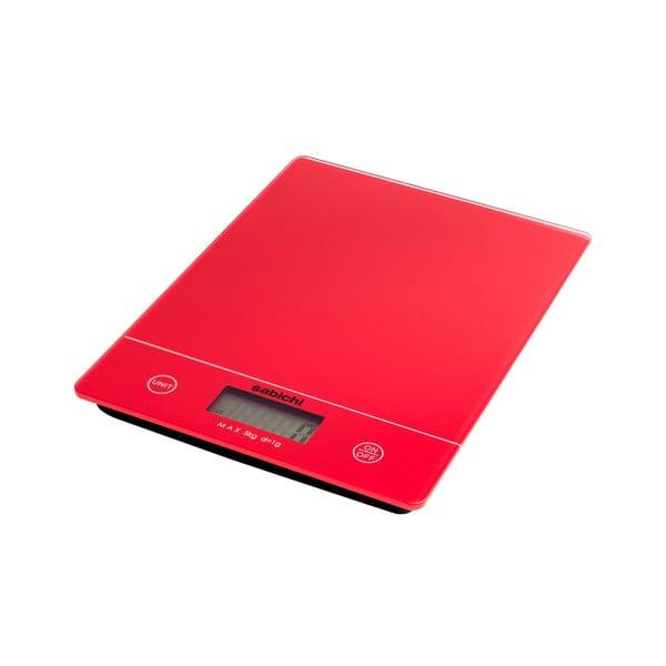 Czerwona cyfrowa waga kuchenna Sabichi