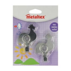 Sada 2 ks háčků ve tvaru kohouta Metaltex, délka 8 cm