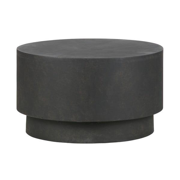 Dean sötétbarna dohányzóasztal, ⌀ 60 cm - WOOOD