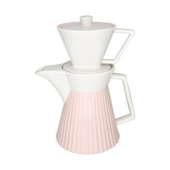 Carafă din ceramică pentru cafea Green Gate Alice, alb-roz de la Green Gate