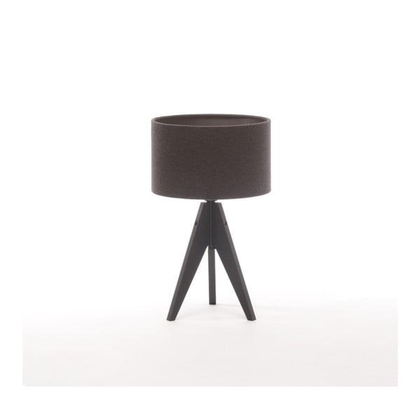 Tmavě šedá  stolní lampa Artist, černá lakovaná bříza, Ø 25 cm