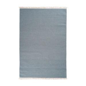 Covor de lână țesut manual Linie Design Solid, 200 x 300 cm, gri - albastru