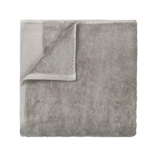 Šedý bavlněný ručník Blomus, 50x100cm
