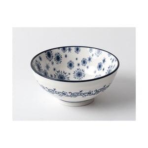 Bílá miska s modrým vzorem Madame Coco, ⌀12 cm