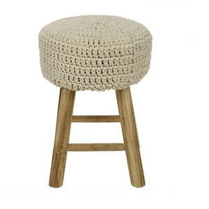 Stolička s pleteným sedátkem Cream, 27x41 cm