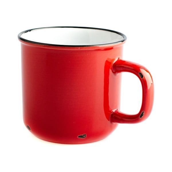 Czerwony kubek ceramiczny Dakls, 440 ml