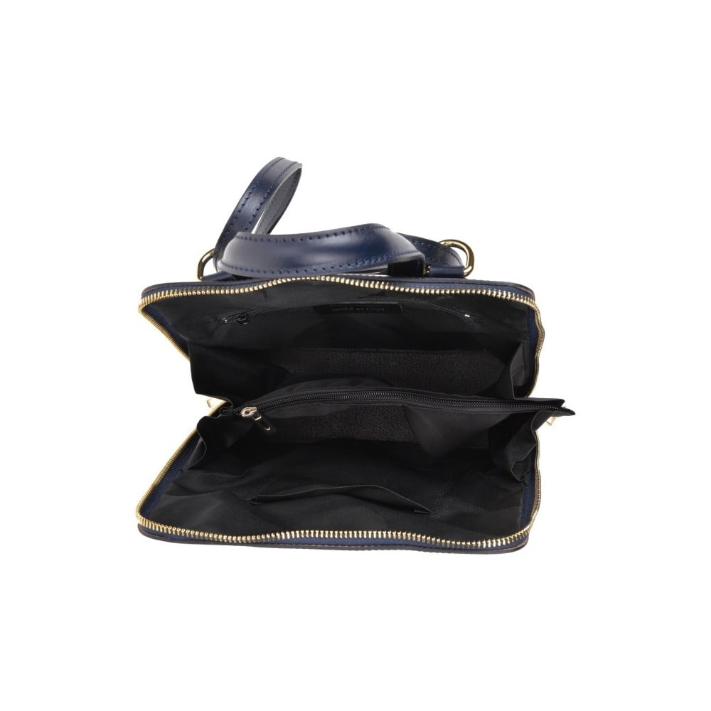 Tmavě modrý kožený batoh Anna Luchini Zunna ... 87addb1984