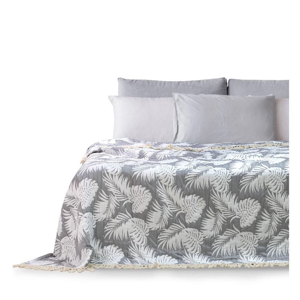 Přehoz přes postel DecoKing Tropical Leafes, 260 x 280 cm