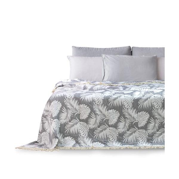 Narzuta na łóżko DecoKing Tropical Leafes, 220x240 cm