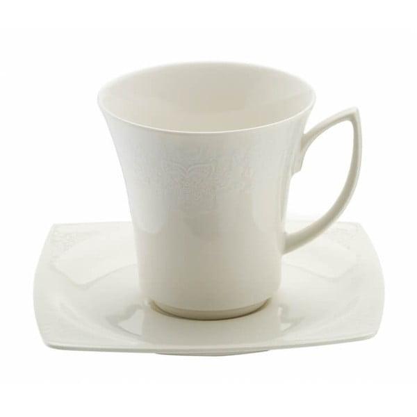Zestaw 6 porcelanowych filiżanek ze spodkami Kutahya Rafio