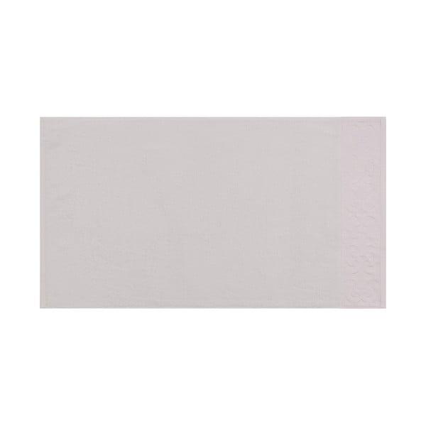 Sada 2 bílých bavlněných ručníků na ruce s krémovým lemováním Grace, 50 x 90 cm