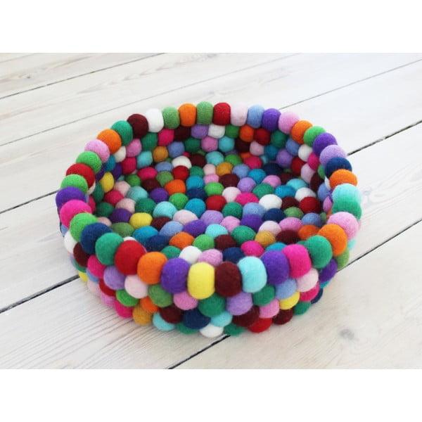 Guľôčkový vlnený úložný košík Wooldot Ball Basket Multi, ⌀ 28 cm