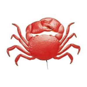 Červené nástěnné LED svítidlo ve tvaru kraba Kare Design Crab