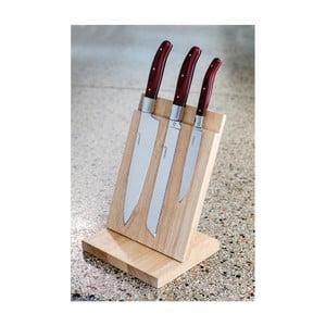 Set 3 cuțite cu suport din lemn Laguiole Isaie