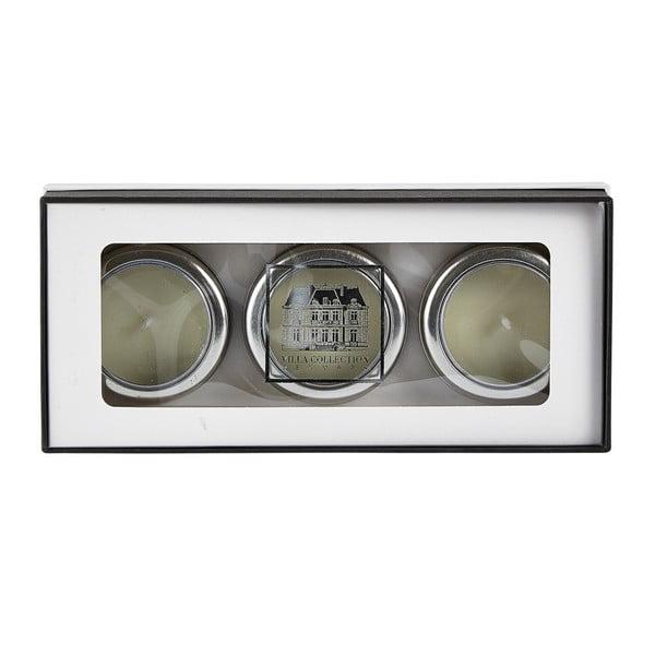 Sada 3 svíček s vůní bílého čaje a zázvoru Villa Collection