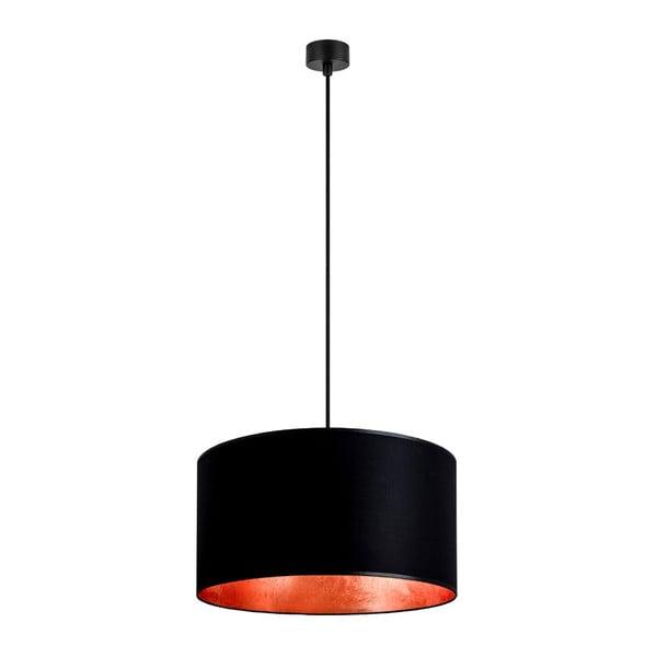 Černé závěsné svítidlo s vnitřkem v měděné barvě Sotto Luce Mika, ⌀50cm