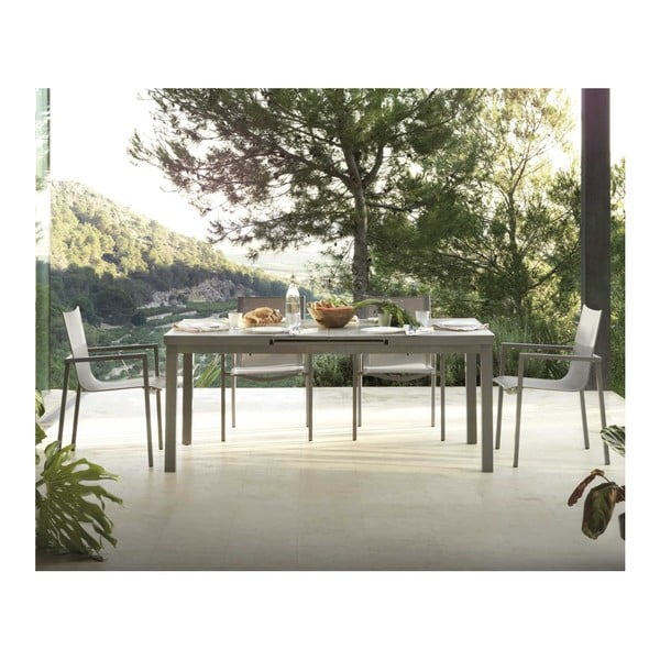 Šedý rozkládací jídelní stůl Geese Pate, délka180x240cm