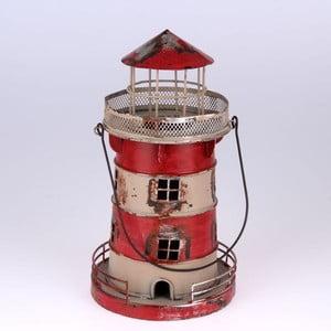Kovový závěsný svícen Red Lighthouse, 24 cm