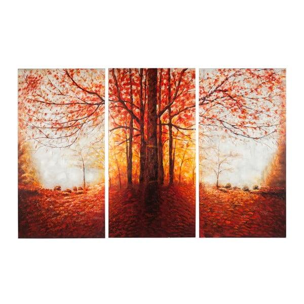 Ručně malovaný obraz J-Line Tree Autumn, 50x100 cm