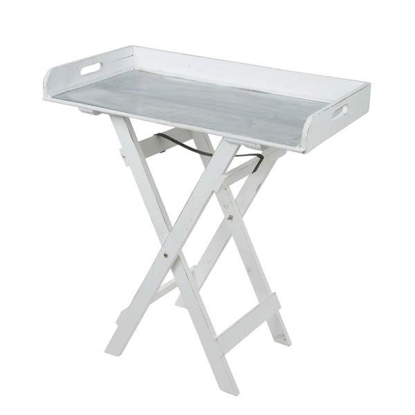 Dřevěný servírovací stolek, bílý