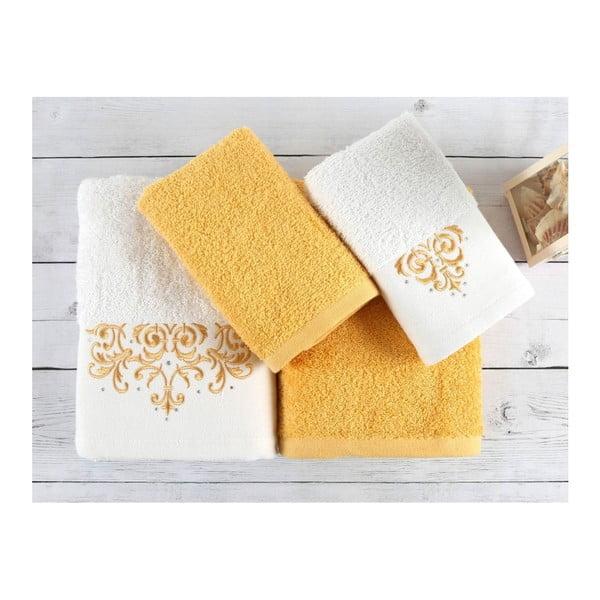Set 2 uterákov a 2 osušiek z prémiovej bavlny Flossy