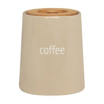 Recipient pentru cafea cu capac din lemn de bambus Premier Housewares Fletcher, 800 ml, crem imagine