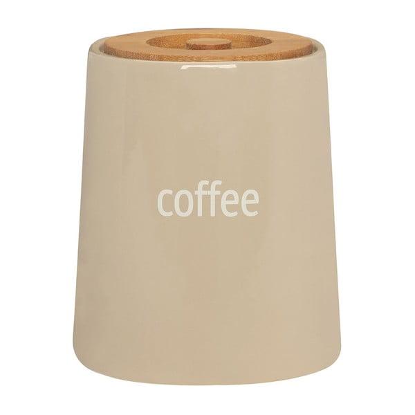 Kremowy pojemnik na kawę z bambusowym wieczkiem Premier Housewares Fletcher, 800 ml