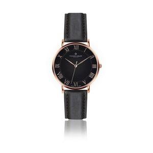 Pánské hodinky s černým páskem z pravé kůže Frederic Graff Rose Dom Black Leather