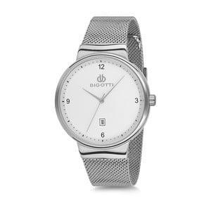 Pánské hodinky stříbrné barvy z nerezové oceli Bigotti Milano Lukas