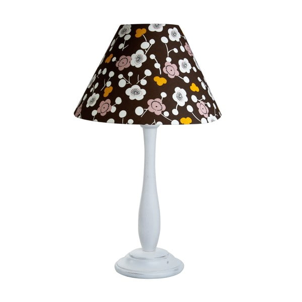 Stolní lampa Flowers Brown/White