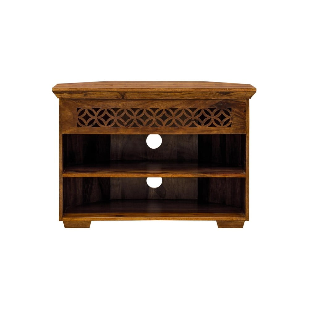 Rohový TV stolek z palisandrového dřeva Massive Home Rosie
