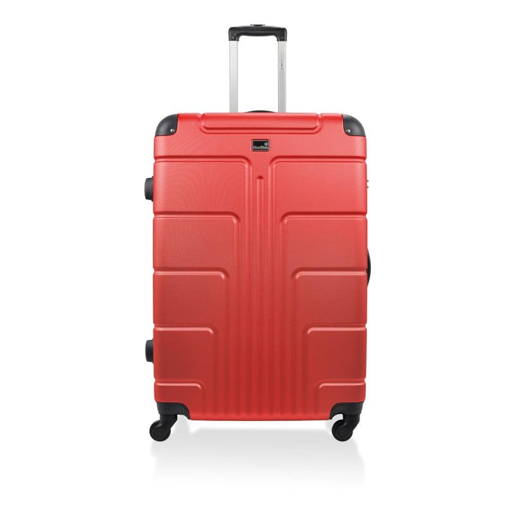 Červený kufr na kolečkách Blue Star Ottawa, 46 l