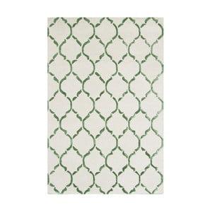 Ručně tkaný koberec Chain, 122x183 cm, zelený