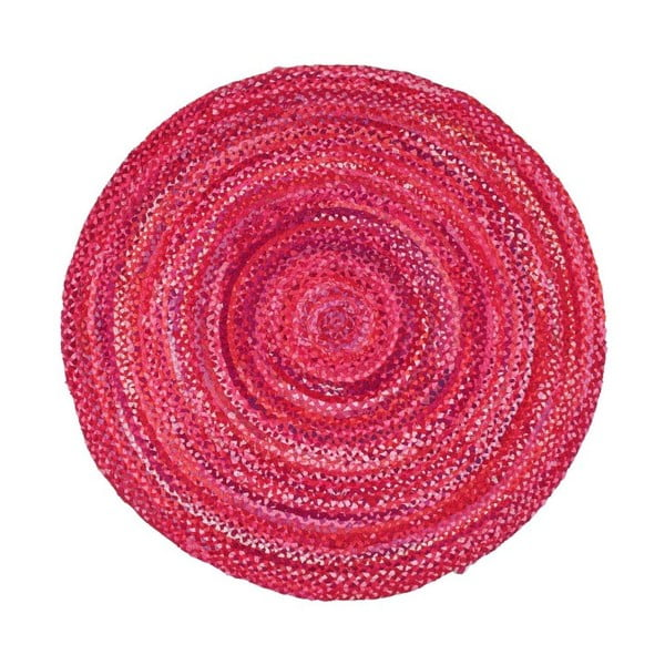 Covor din bumbac Eco Rugs, Ø 150 cm, roz