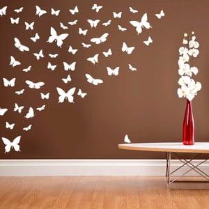 Samolepka na stěnu Wallvinil Motýlí ráj, bílý