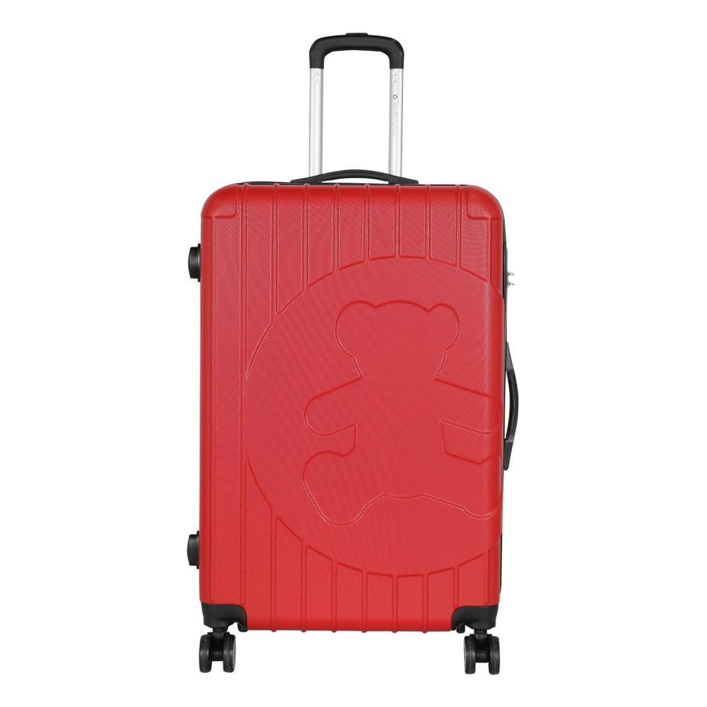 Červený cestovní kufr LULU CASTAGNETTE Philip, 107l