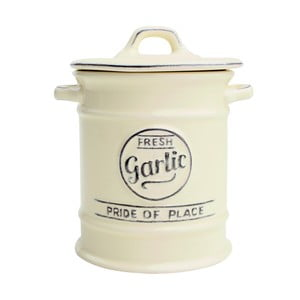 Doză ceramică pentru usturoi T&G Woodware  Pride of Place, crem