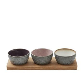 Set 3 boluri de servire din ceramică Bitz Mensa, negru de la Bitz