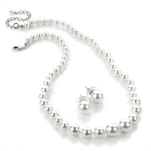 Sada náhrdelníku a náušnic Pearl White