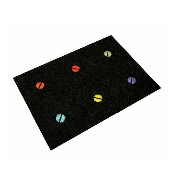 Univerzální rohožka Spot On Black, 80x55 cm