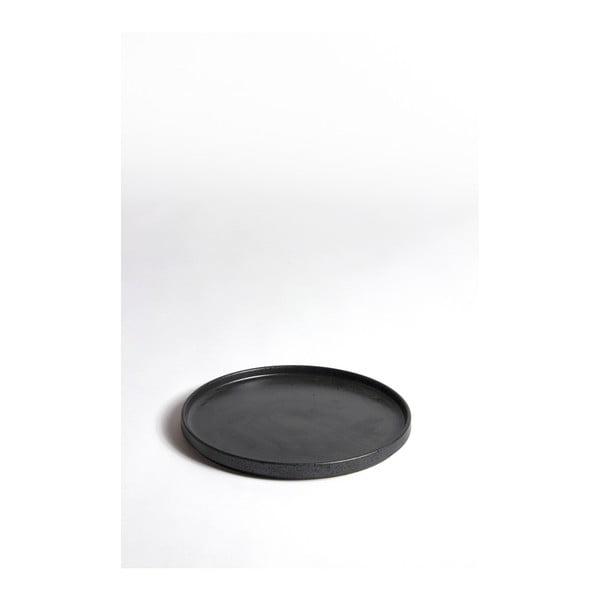 Keramický černý tác ComingB Assiette Granite Noir GM, ⌀ 23,7 cm