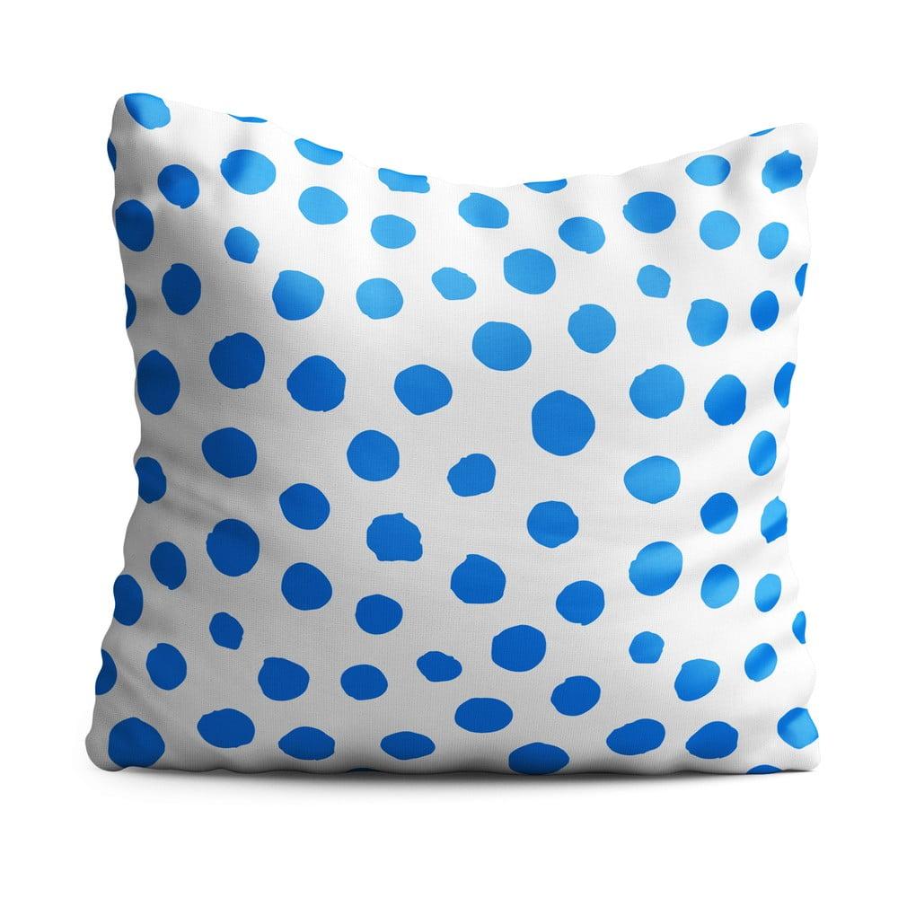 Dětský polštář OYO Kids Blue Dots, 40 x 40 cm