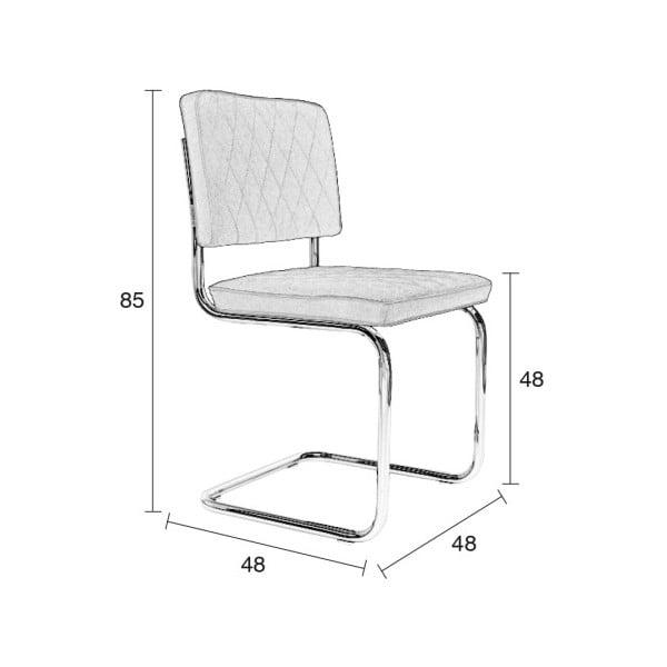 Sada 2 šedých židlí Zuiver Diamond