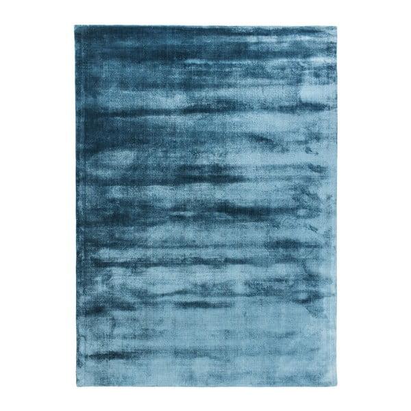 Modrý ručně tkaný koberec Linie Design Lucens, 140x200cm
