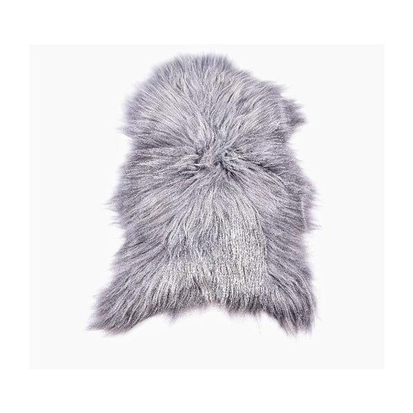 Ovčí kožešina s dlouhým chlupem Grey,100x60cm