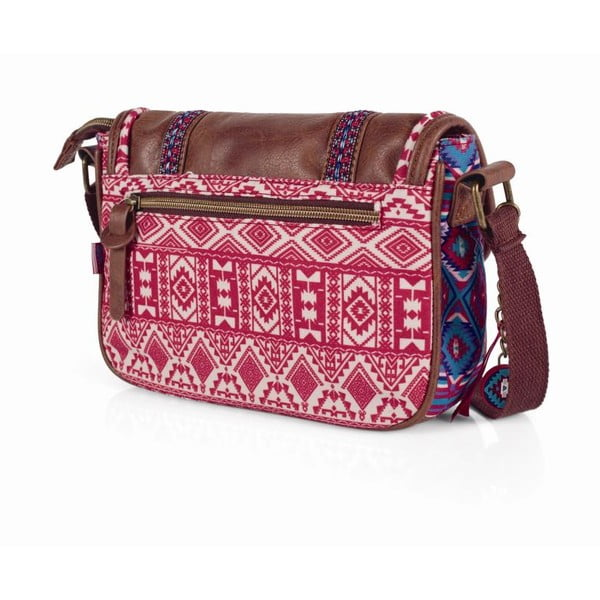 Růžovo-modrá kabelka SKPA-T, 24 x 17 cm
