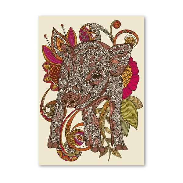 Autorský plakát Paisley Piggy od Valentiny Ramos