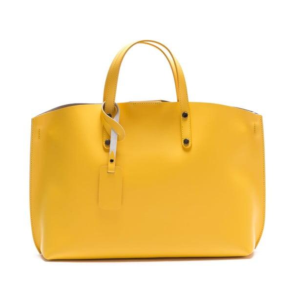 Žlutá kožená kabelka Luisa Vannini 3034